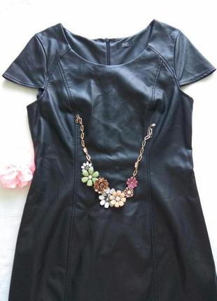 Ультра модное кожаное платье f&f