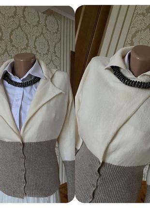 💯 % шерсть мериноса нарядный кардиган свитер кофта джемпер 🤩