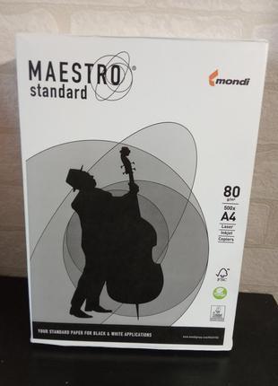 Бумага офисная а4 maestro 80г/м2 500 листов
