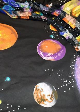 Простыни на резинке из плотной бязи - космос, все размеры, быстрая отправка