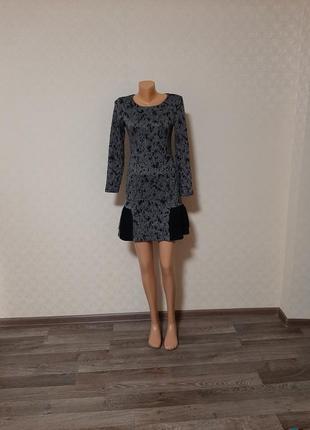 👗оригинальное трикотажное платье