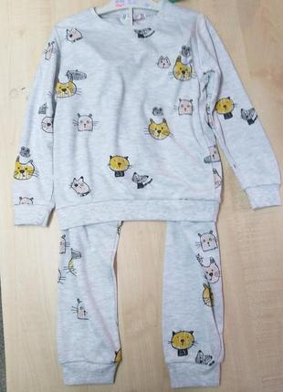 Супер мягкая пижама для мальчика 4-8 лет