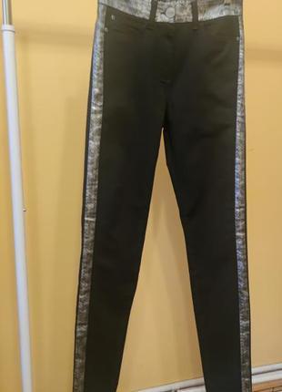 Женские черные джинсы с вставками marks & spencer 10/м