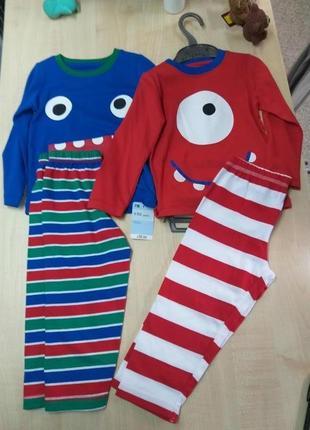 Классные пижамки для мальчиков 86р.  и 92р.