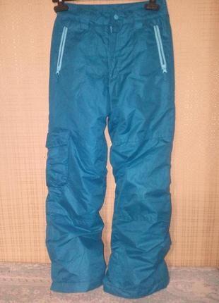 Классные тёплые  лыжные  штаны 140 см