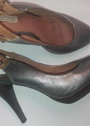 Вечерние женские открытые туфли john lewis collection 39р натуральная кожа 100%