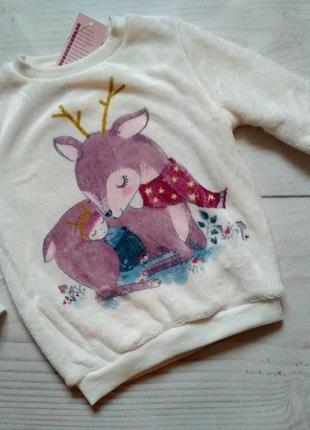 Кофта свитер теплый девочки польша