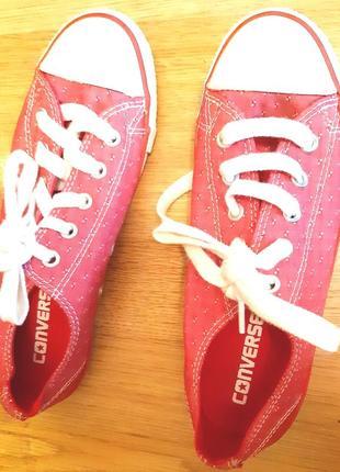 Червоні кеди converse р 35.5 текстиль