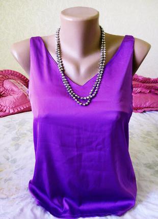 Распродажа!! фиолетовая майка -блузка