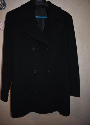 Двубортное пальто полу пальто оверсайз