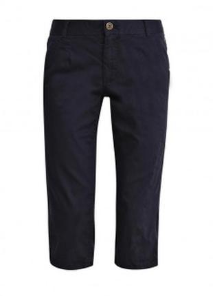 Атласные черные бриджи штаны шорты  брюки летние классические с биркой