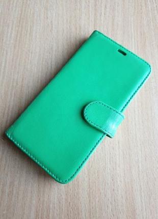 Кожаный чехол-книжка iphone x