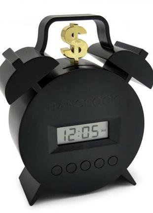 Часы будильникc с функцией копилки