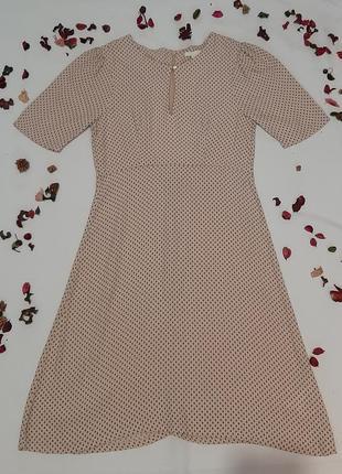 Супер платье в мелкий горошек h&m
