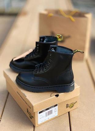 Dr. martens 1460 демисезонные ботинки мартинс полностью черные