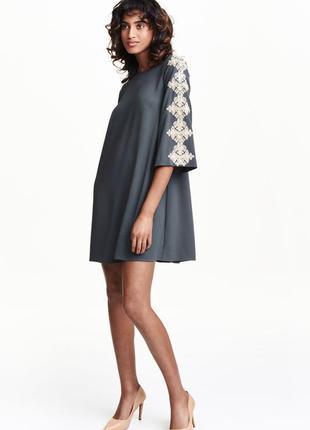 Платье h&m красивый серый цвет