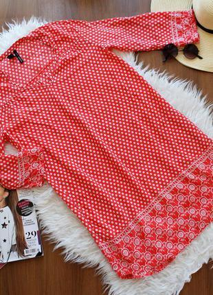 Легкое летнее платьице с кармашками s-m