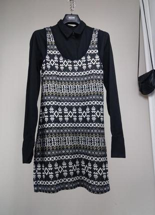 Платье-туника/котон+вискоза с люрексомс