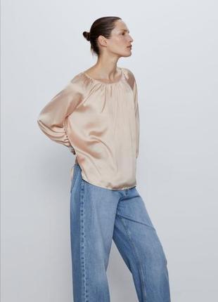 Блузка нарядная zara