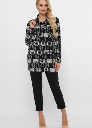 Трикотажная рубашка с длинным рукавом на манжетах