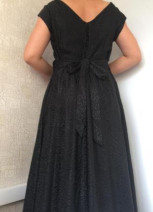 Чёрное вечернее/длинное/макси платье из вискозы в леопардовый принт polly grace