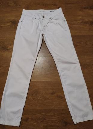 Белые брюки низкая посадка