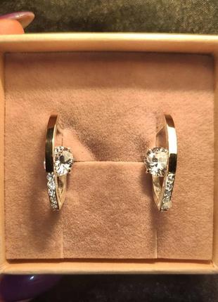 Эксклюзивные сережки с камнем