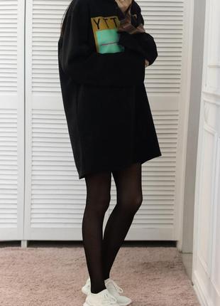 Платье свитшот на флисе оверсайз