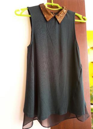 Актуальная блуза с паетками