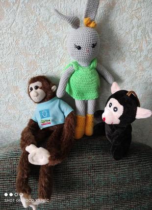 М'які іграшки 3 шт