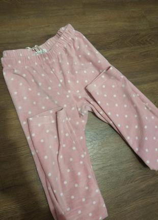 Очень красивые теплые плюшевые штаны