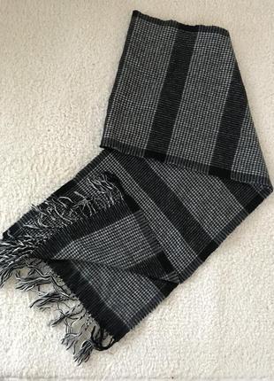 Мужской мягкий тёплый шарф