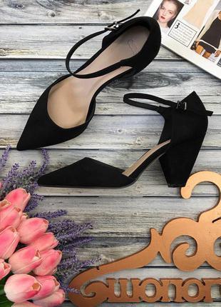 Стильные базовые туфли asos на скошенном каблуке  sh2712  asos