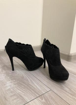 Ботильоны new look чёрные