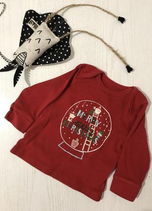 Новогодний реглан кофта на малыша christmas