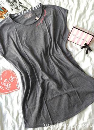 Мягкая, уютная домашняя футболка ночнушка victoria's secret. оригинал. s, m