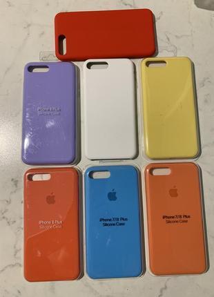 Роскошный силиконовый чехол на модели iphone 6 plus /7 plus/8 plus