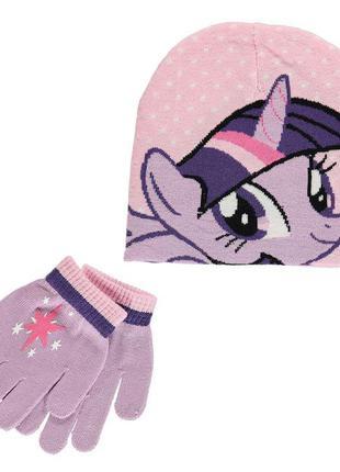 Комплект шапка и перчатки george pig my little pony
