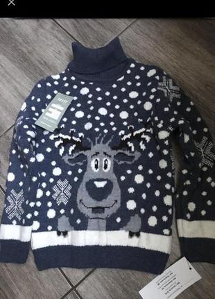 Новогодний светр, с оленем , , новогодний реглан