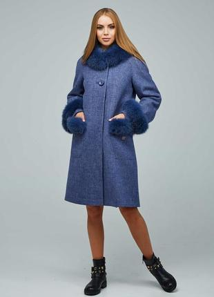 Женское зимнее пальто с мехом рр 44-54