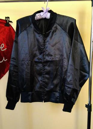 Бомбер , атласная куртка