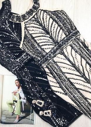 Нарядное платье блестки паетка бисер новое плаття boohoo