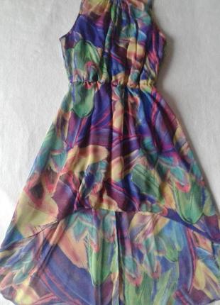 """Яркое каскадное (короткое спереди, длинное сзади) платье """"atmosphere"""""""