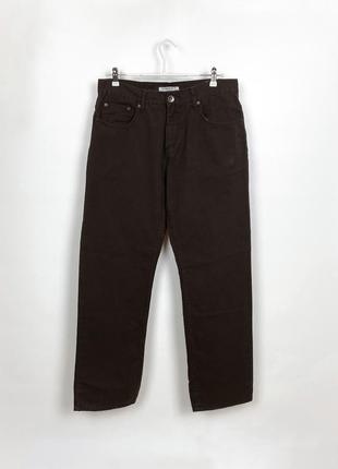 Коричневые джинсы прямого кроя kensington dockside & co - men's brown jeans