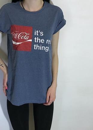 Женская футболка coca cola ( кока кола с-мрр идеал оригинал разноцветная)