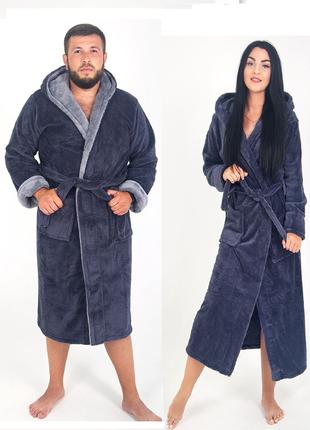 2шт халаты для пары, парный, семейный комплект, махровый халат