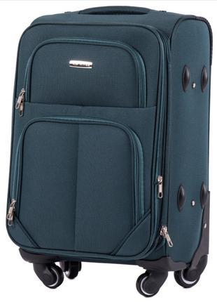 Тканевый дорожный чемодан wings 214 на 4-х колесх