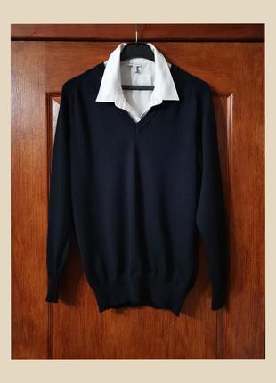 Винтажный пуловер из чистой шерсти мериноса marz maerz woolmark