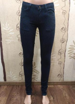 Vila clothes синие джинсы скинни