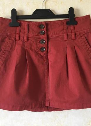 Стильная джинсовая мини юбка colin's, колинз, джинсова спідниця, юбка джинсовая colins
